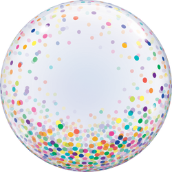 Confetti Bubble Balloon - Colourful 24""