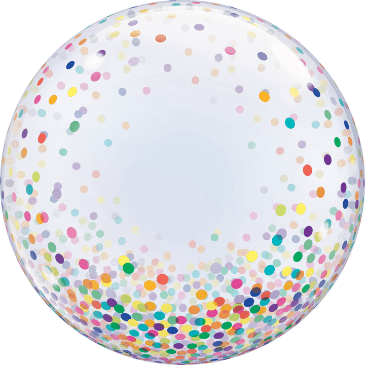 Confetti Bubble Balloon - Colourful 24