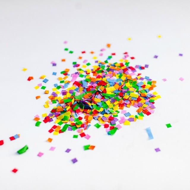 Rainbow Confetti Paper Mix
