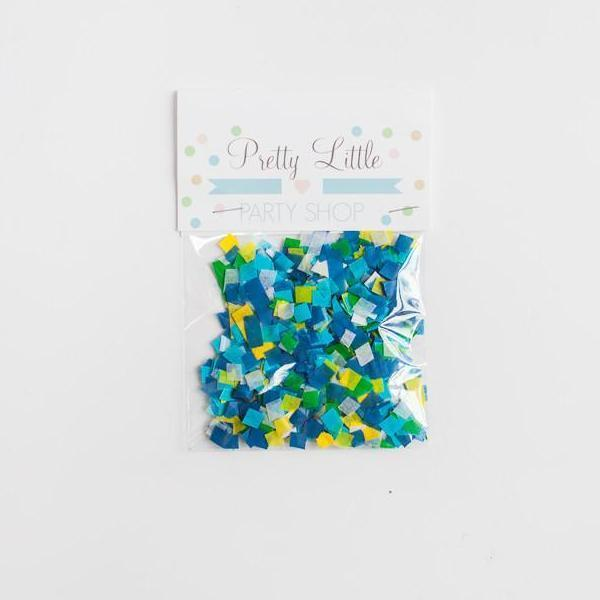 Paper Confetti Mix - Blues and Yellows