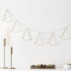 Contemporary Metal Christmas Tree Garland