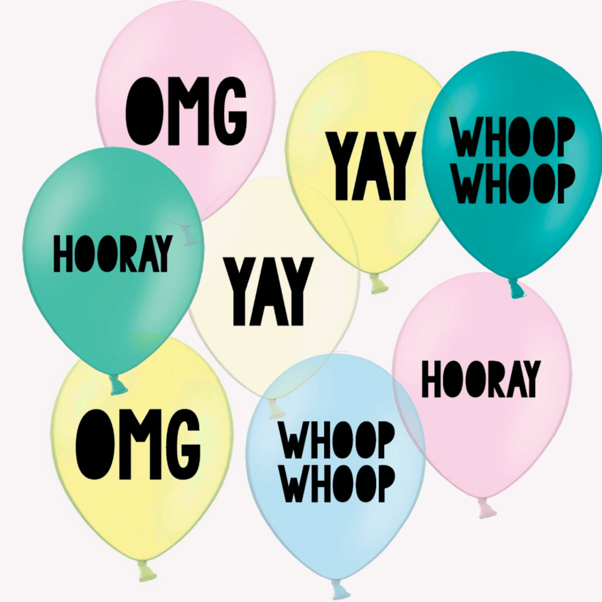 Yay Party Balloons | Yay OMG Balloons Pretty Little Party Shop