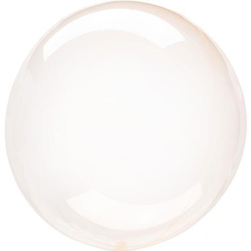 Crystal Clearz Transparent Balloons - Orange