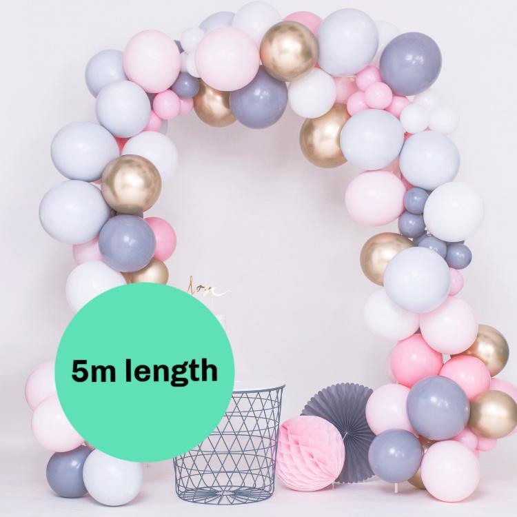 5m Custom Made Balloon Garland Installation Kit | Bespoke Balloon Garland Arch