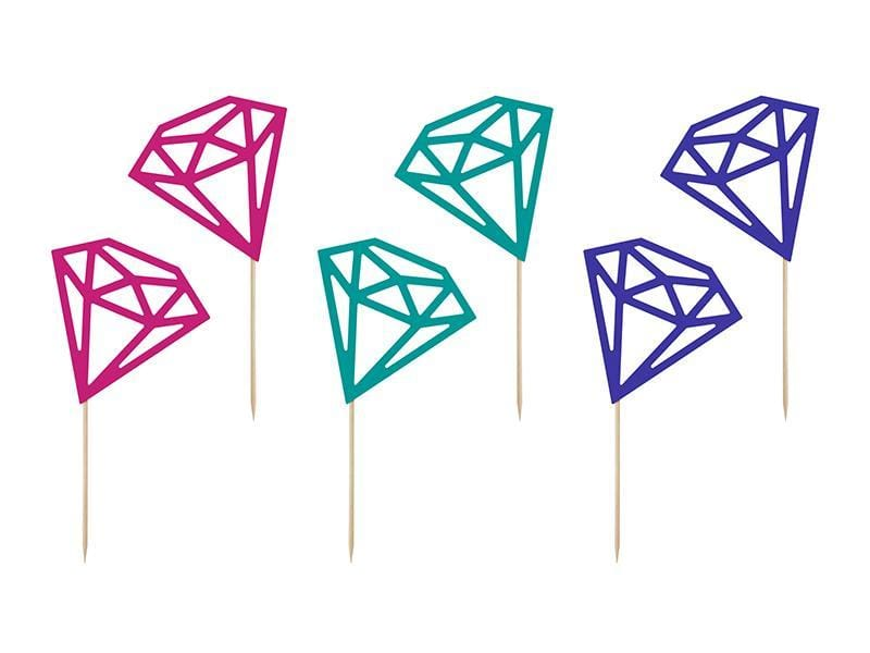 Diamond Party Cake Toppers | Wedding Party Supplies