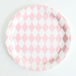 Diamond Party Plates Pink (8 Pack)