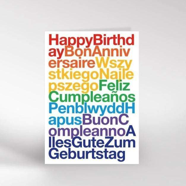 Dicky Bird Card - Birthday Languages Card