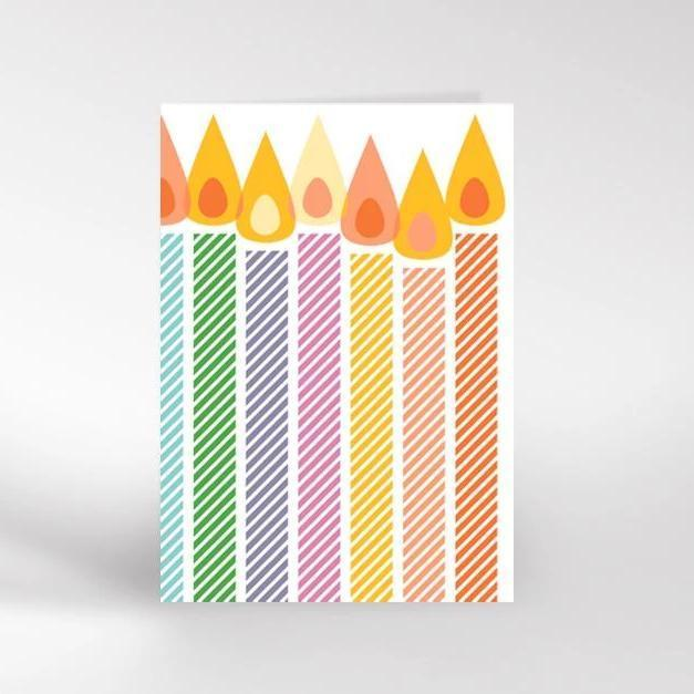 Dicky Bird Card - Candles