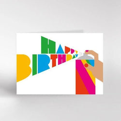 Dicky Bird Card - Rainbow Spray Can