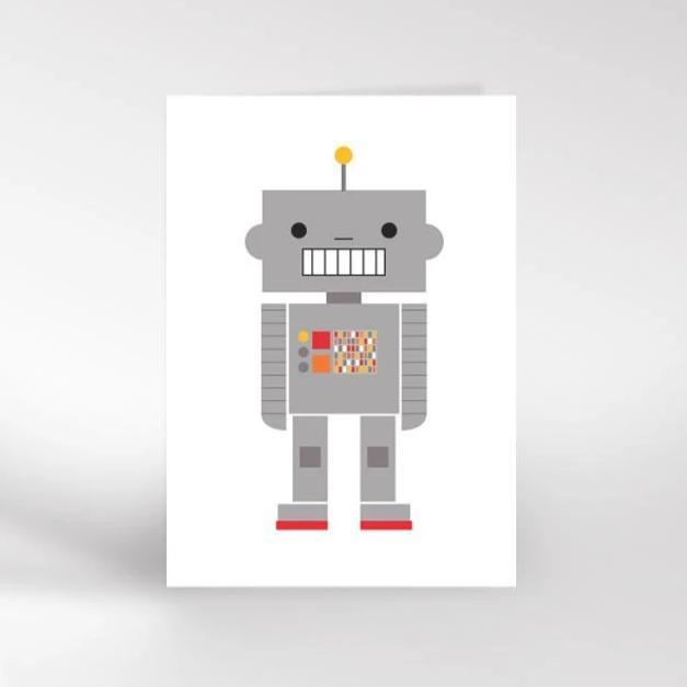 Dicky Bird Card - Robot