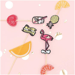 Drink Stirrers | Cocktail Stirrers | Fun Tropical Mix