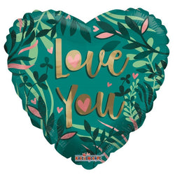 Eco One Heart Balloon - love you Tropical