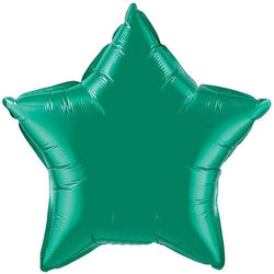 Emerald Green Star Foil Balloon 20""