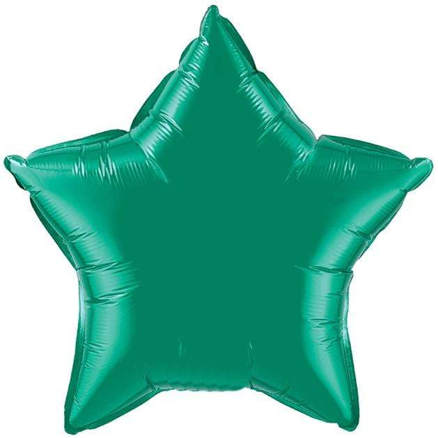 Emerald Green Star Foil Balloon 20