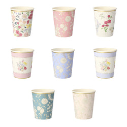 English Garden Party Cups (8)