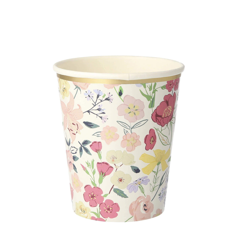 English Garden Party Cups | Floral Party Cups Meri Meri Party UK