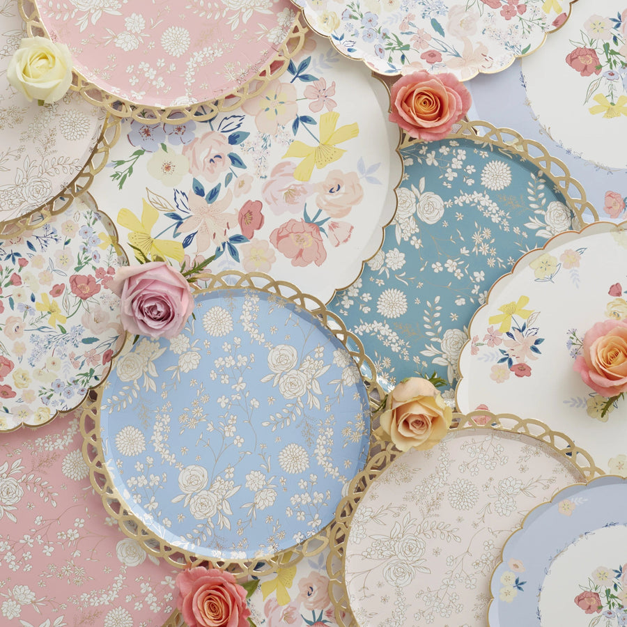 Pretty Floral Lace Garden Party Paper Plates | Meri Meri UK