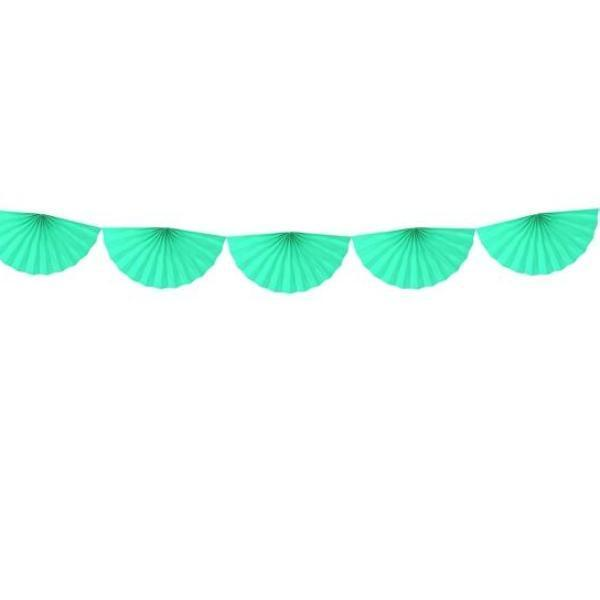 Paper fan Garland Mint