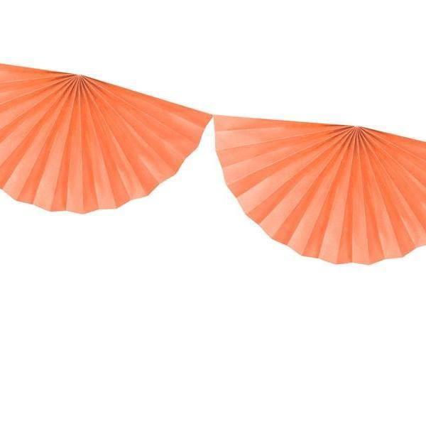 Paper Fan Garland Blush