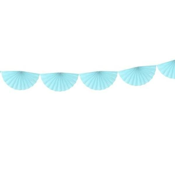 Paper Fan Garland Sky Blue