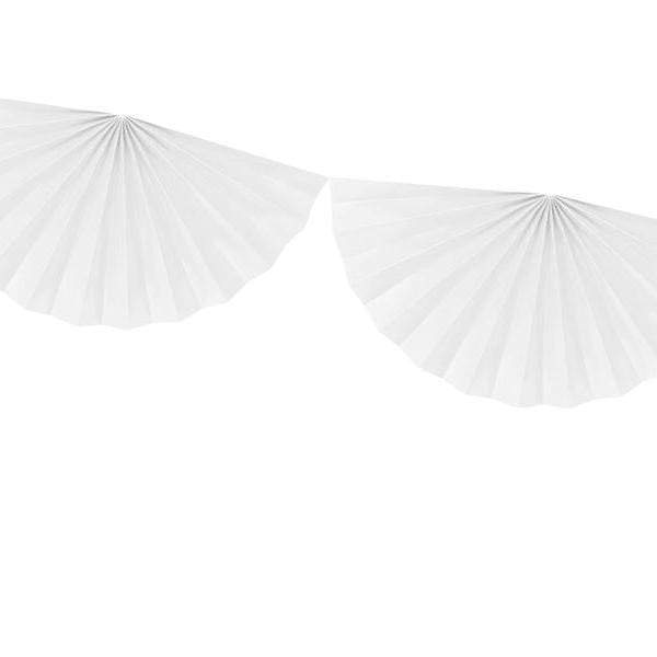 Paper fan Garland White