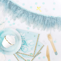 Feather Garland - Misty Blue
