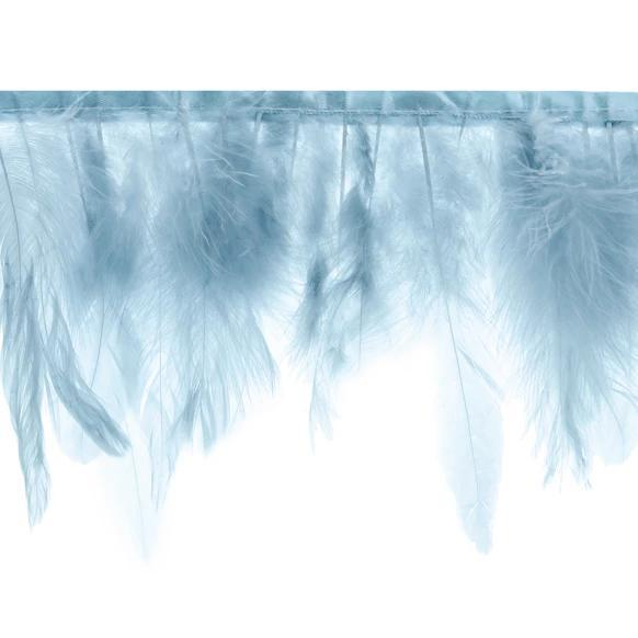 Blue Feather Garland Decoration for Weddings and Baby Showers