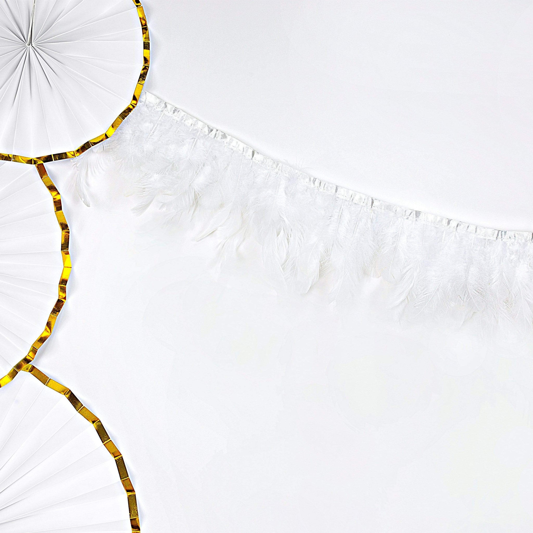 White Feather Garland Decoration for Weddings and Baby Showers