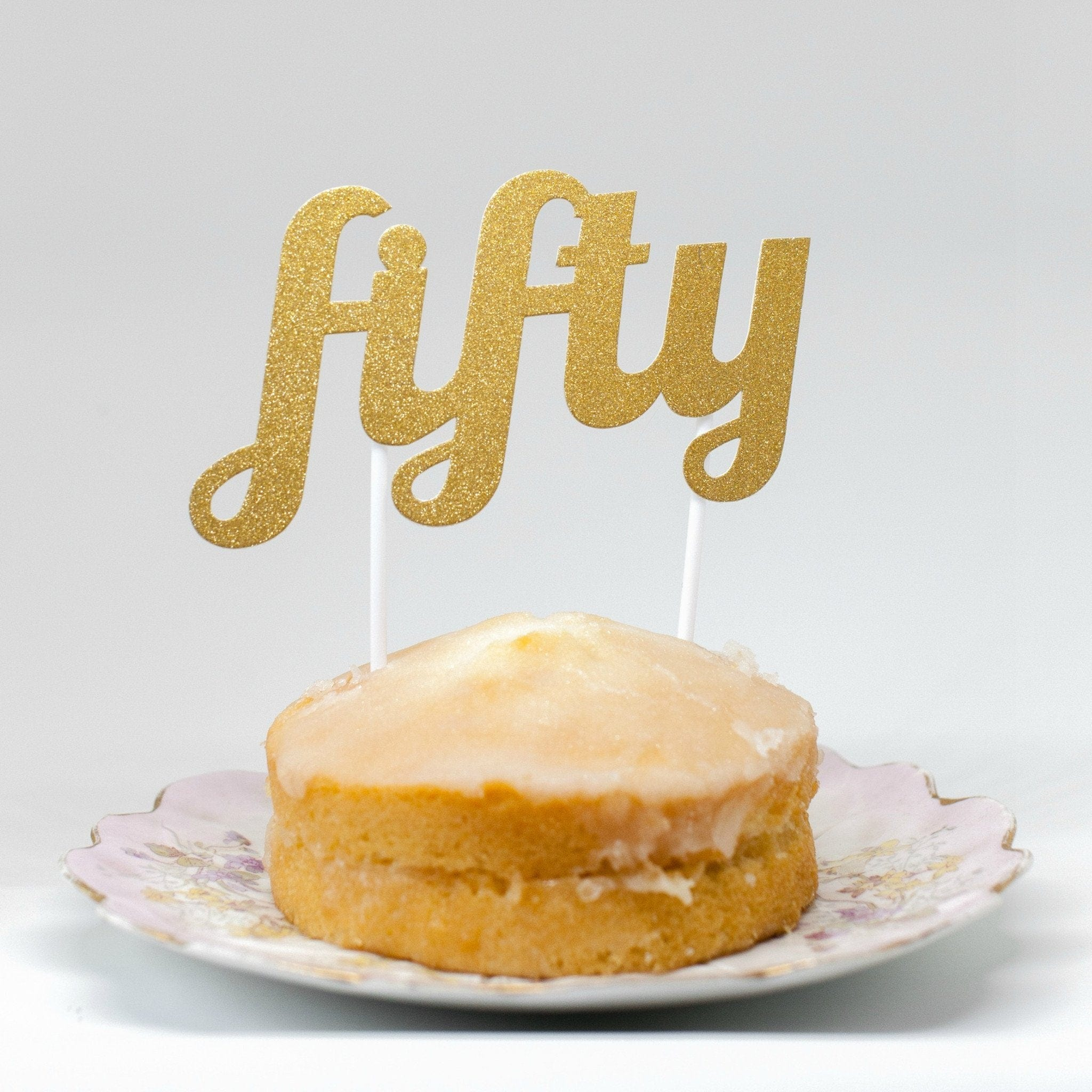 Fifty Birthday Cake Topper Fiftieth