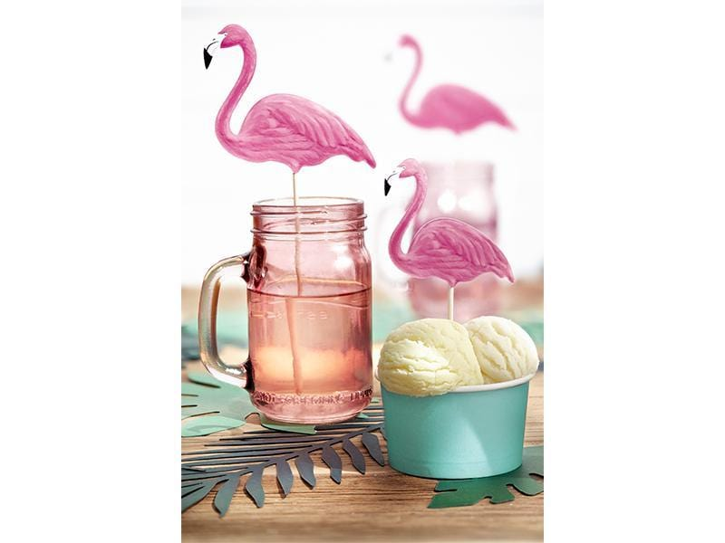 Flamingo Cake Toppers | Flamingo Party Decorations