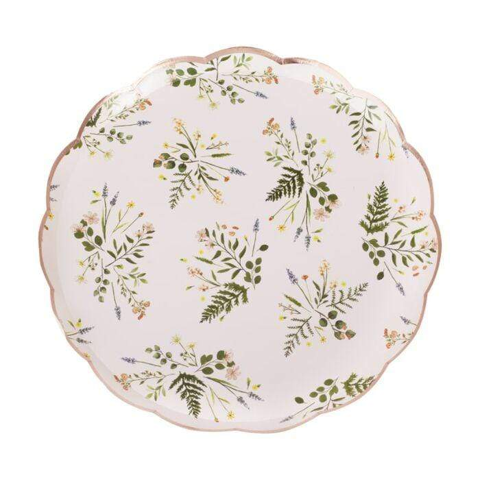 Floral Tea Party Plates by Ginger Ray UK
