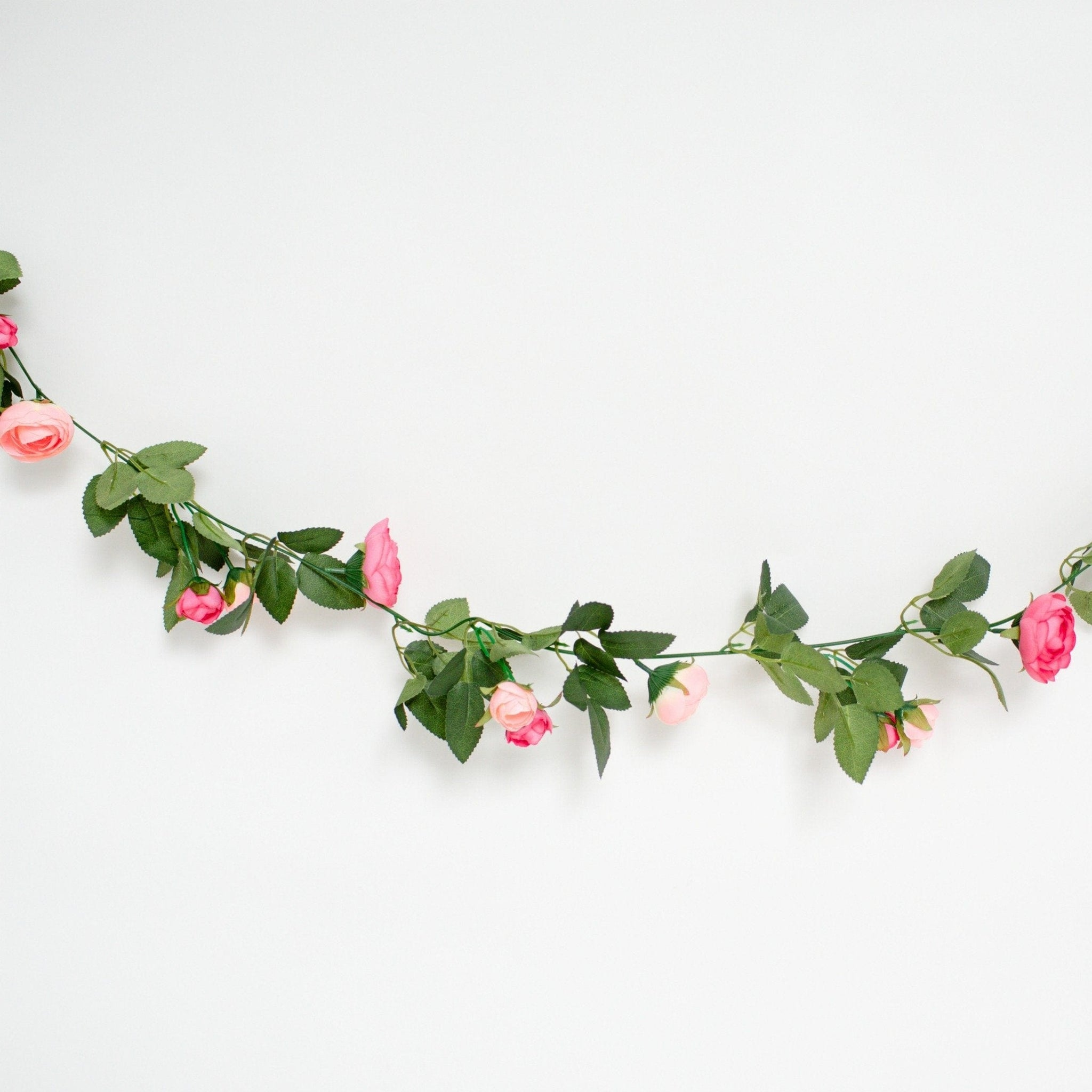 Flower Garland Pink Artificial