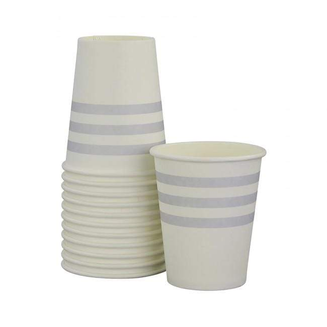 Grey Paper Party Cups Grey