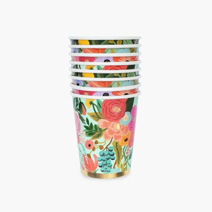 Garden Party Paper Cups (Set of 12)