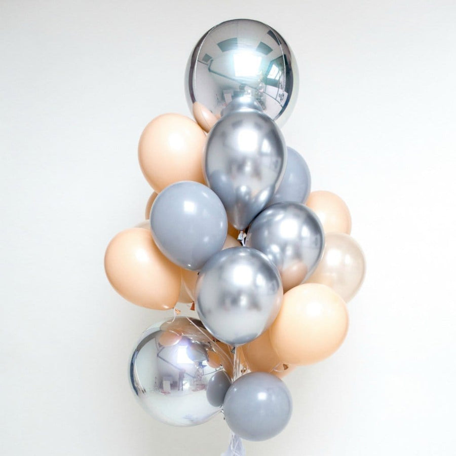 Giant Balloon Bouquet Blush and Silver