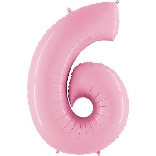 Giant Number Balloon Pastel Pink | Giant Foil Number Balloons