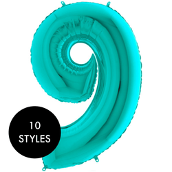 Giant Number Balloon Tiffany Blue Foil Balloons | Foil Number Balloons