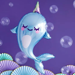 Giant Narwhal Balloon 34""