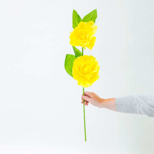 Giant Paper Flower Decoration Yellow