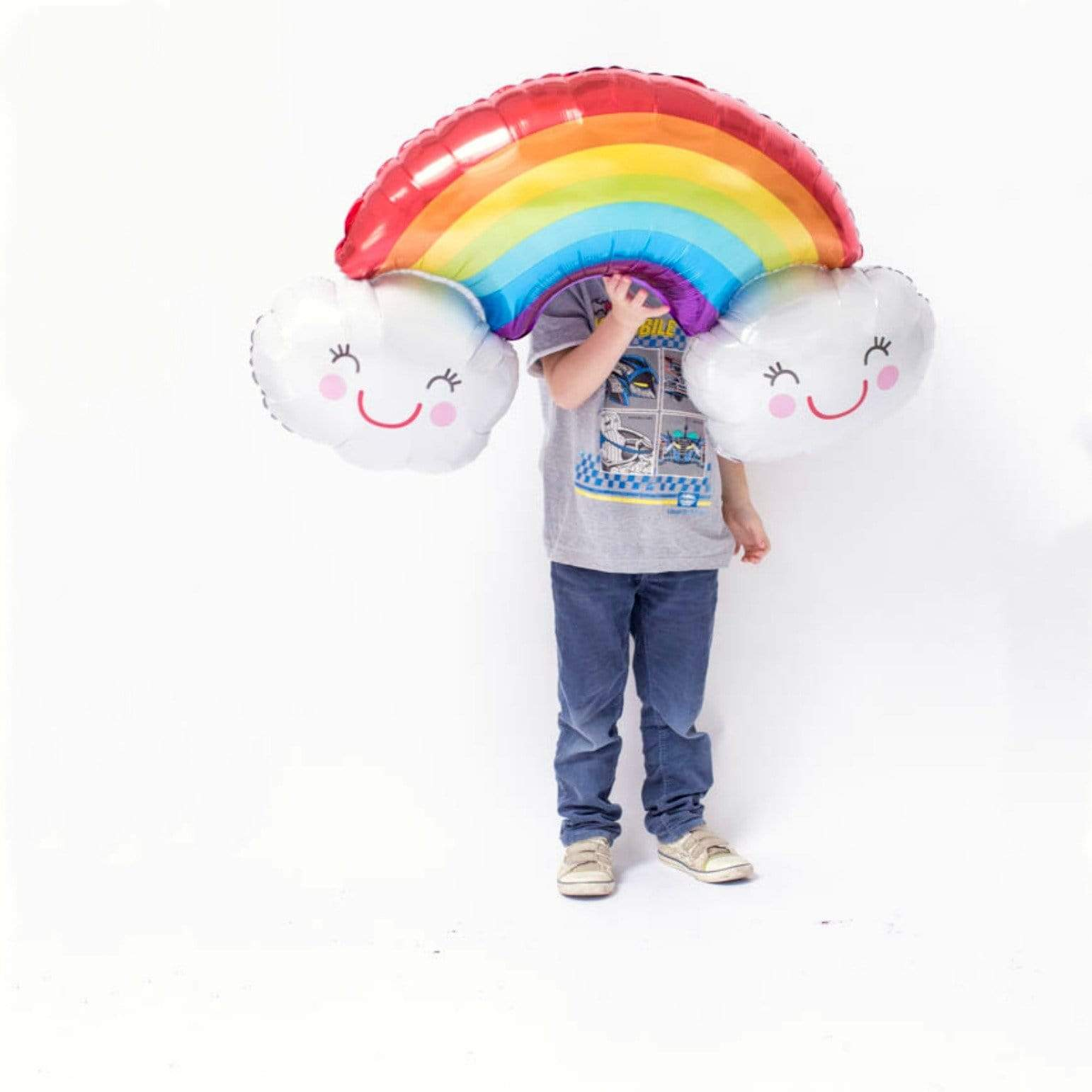 Giant Rainbow and Clouds Balloon