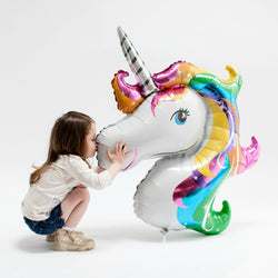 Giant Rainbow Unicorn Balloon 33""