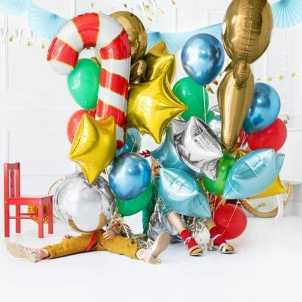 Giant Candy Cane Foil Helium Balloons for Christmas