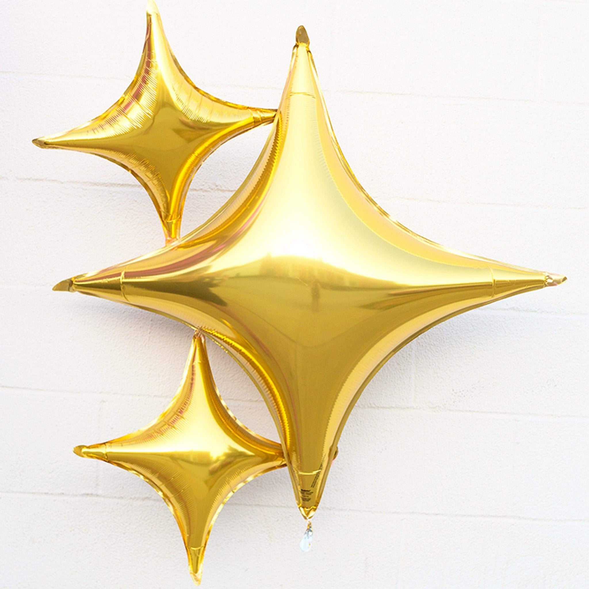 "Gold Four Point Star Balloon | 40"" Foil Balloons 