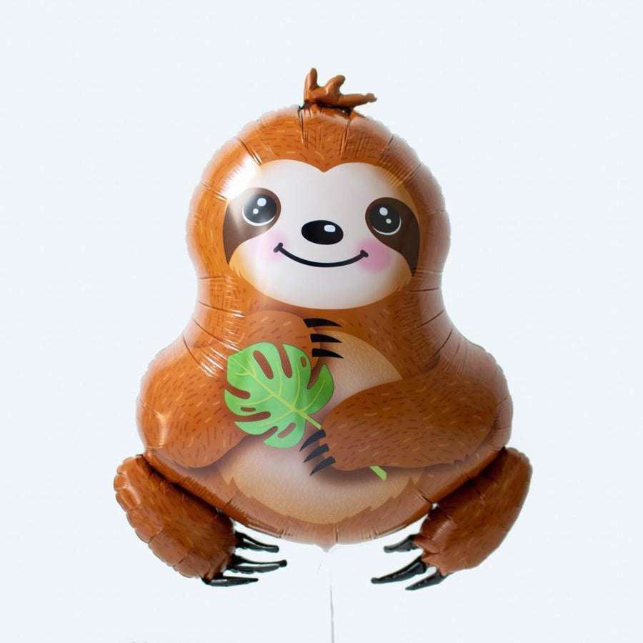 Sloth Party Helium Balloon | Foil Shape Balloons UK