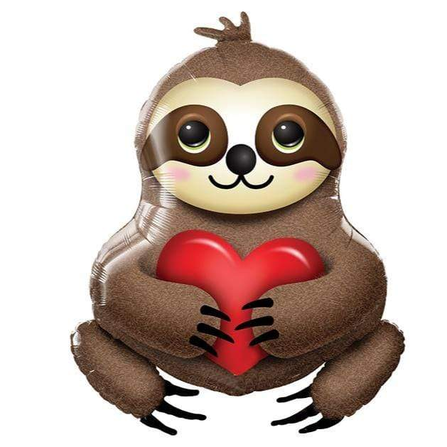 Sloth Balloon With Heart