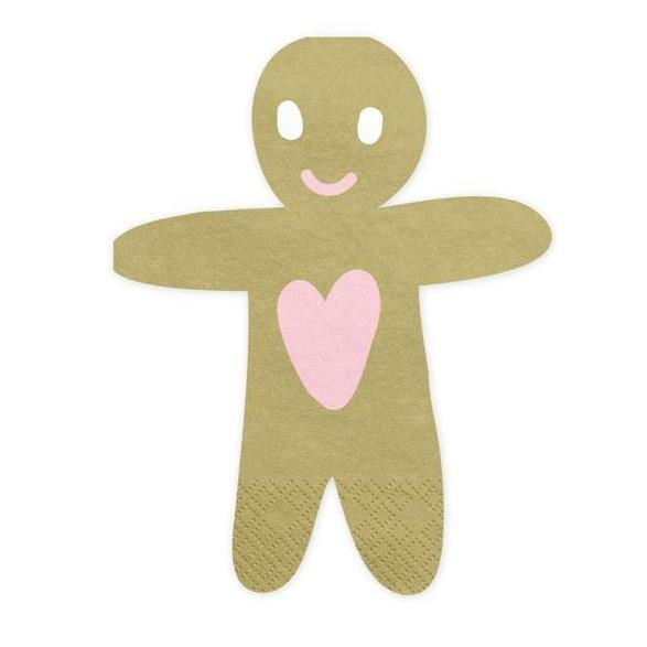Gingerbread Man Christmas Party Napkins UK