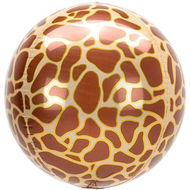 Giraffe print Orbz balloon | Animal Print Balloon Anagram