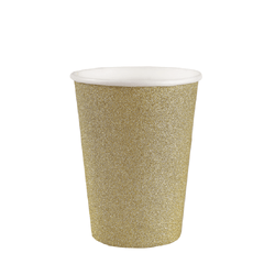 Gold glitter party cups UK