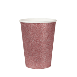 Rose Gold Glittery Party Cups UK