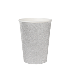 Silver Glitter Paper Cups | Unique Party Supplies UK